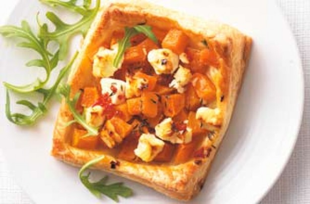 Woman's Weekly Roast butternut and feta tartlets