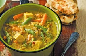 A spicy vegetarian curry that is delicious and mildly hot. This is easy to cook. Serve with naan bread or boiled rice.