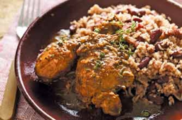 Jamaican rice and beans with jerk chicken recipe goodtoknow womans weekly jamaican rice and beans with jerk chicken forumfinder Choice Image