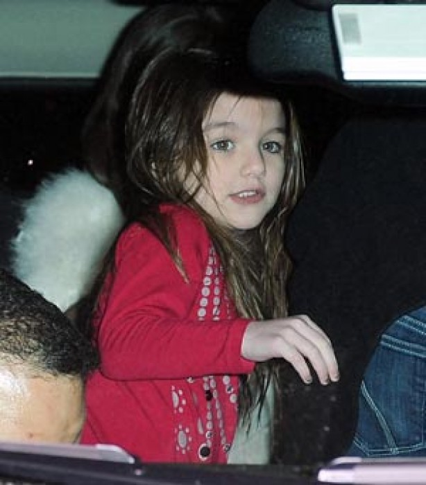 Suri Cruise wearing nail polish