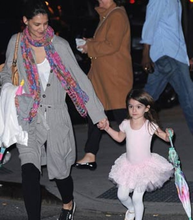 Suri Cruise wearing a ballet outfit
