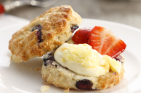 Blueberry and vanilla scones