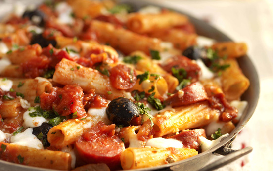 Tomato and chorizo pasta bake recipe - goodtoknow