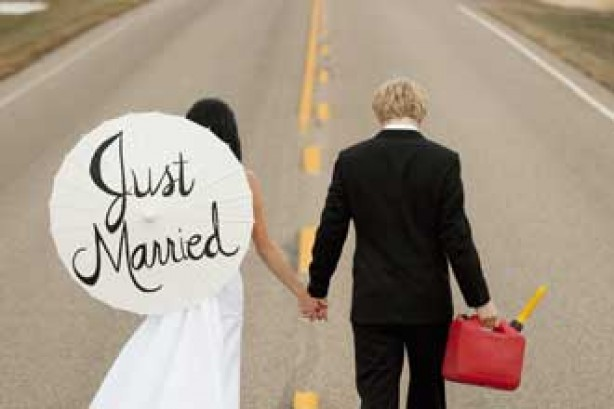 Just married couple