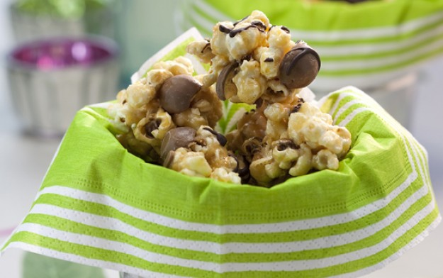 malteser, popcorn