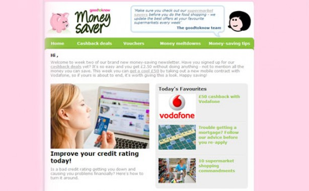 goodtoknow money saving newsletter