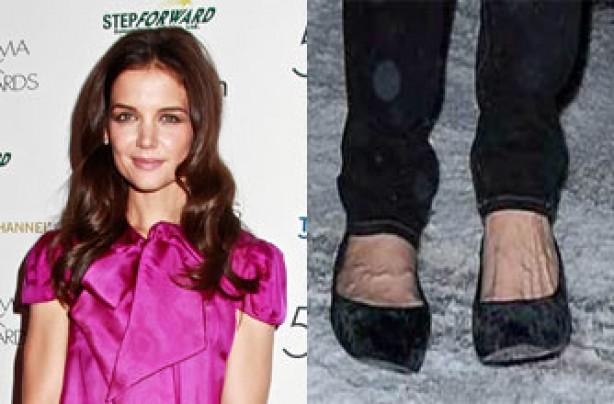 Katie Holmes' feet