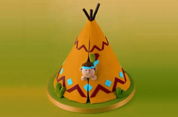 Cowboy tipi cake
