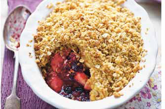 Blueberry and apple crispy crumble recipe - goodtoknow