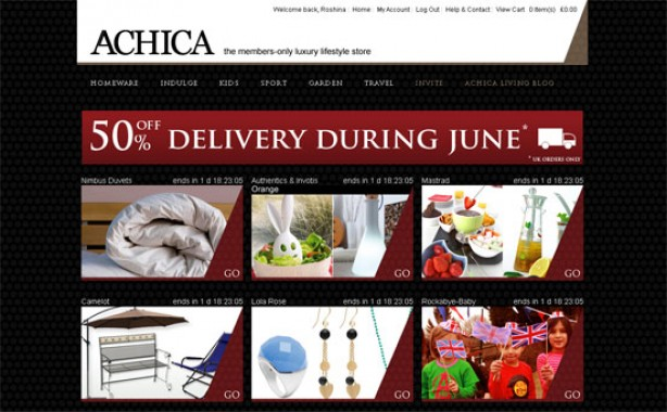 Top 10 bargain websites: Achica