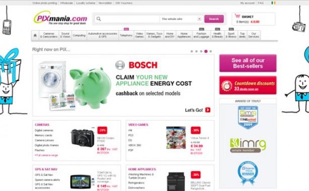Top 10 bargain websites: Pixmania