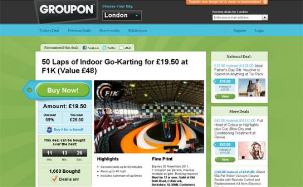 Top 10 bargain websites: Groupon