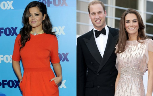 Cheryl Cole, Kate Middleton, Prince William