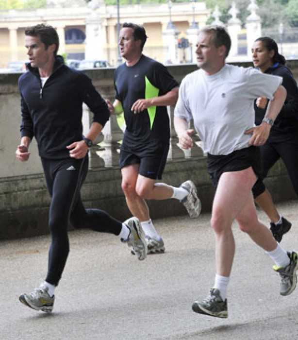 Celebrities keeping fit: David Cameron