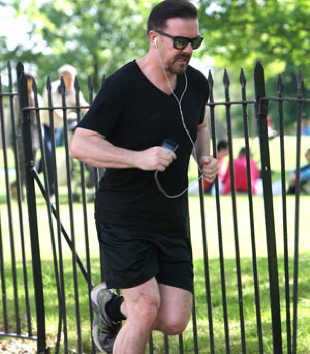 Celebrities keeping fit: Ricky Gervais