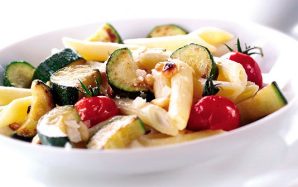 Courgette and parmesan pasta