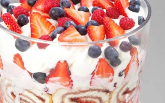 Recipes, big berry trifle
