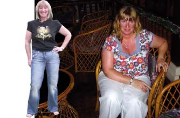 Before and after: Gaynor Imrie
