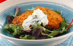 Chicken, sweet- potato and spinach patties