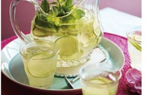 Lime juice and lemonade cooler