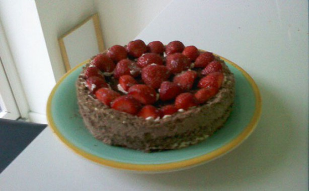 Abigal Barnes' chocolate strawberry gateau cake