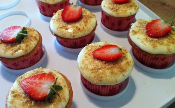 Francesca Lobban's strawberry cheesecake cupcakes