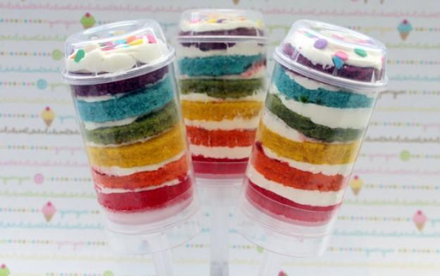 rainbow cake push ups recipe goodtoknow. Black Bedroom Furniture Sets. Home Design Ideas