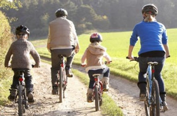 Family cycling