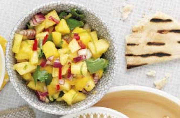 Woman's Weekly pineapple and mango salsa
