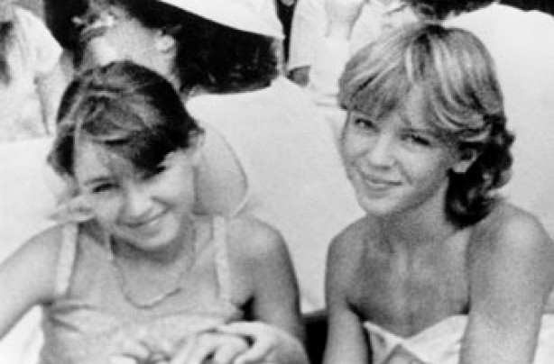Young Dannii and Kylie Minogue
