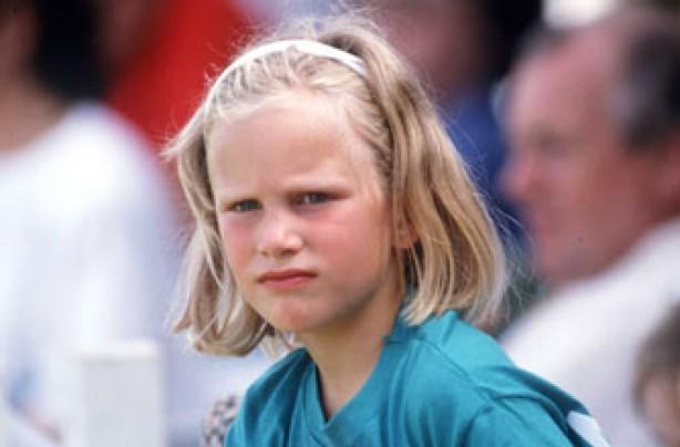 Young Zara Phillips