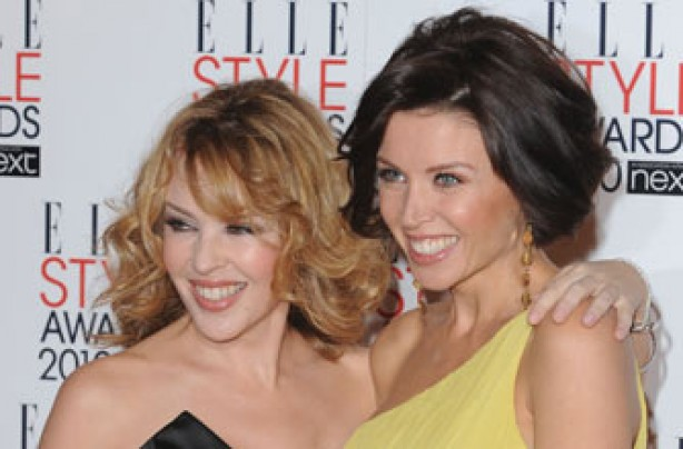 Danni and Kylie Minogue
