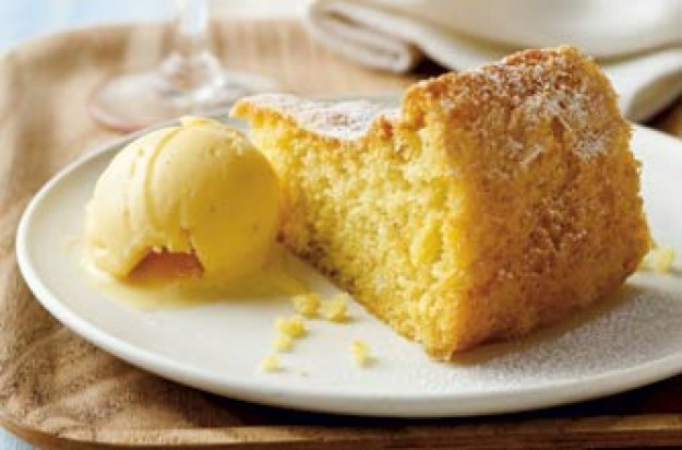 A great dessert after a meal. This light and sweat sponge has no butter but baked with healthy olive oil.