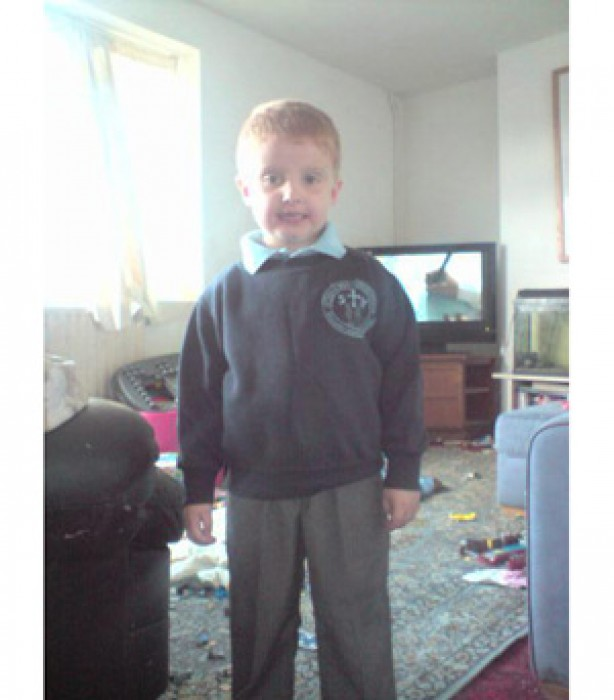 Alex's first day at school