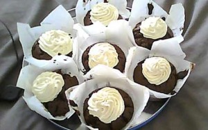 Veronica's beetroot and chocolate muffins