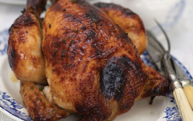 Mary Berry's orange and honey roast chicken