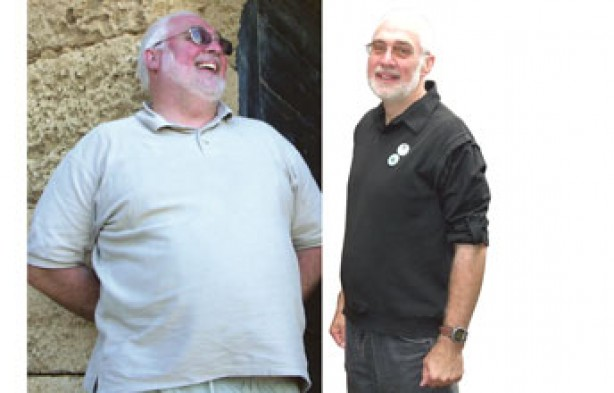 Before and after:David Melton