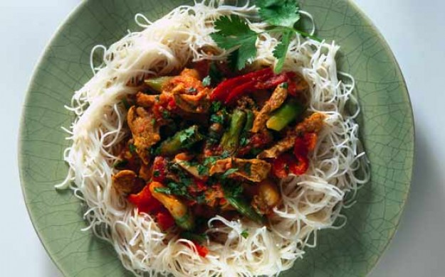 Mary Berry's pork with chilli and coconut
