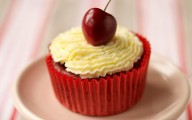 Lower-fat red velvet cupcakes