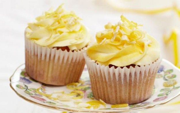 Lemon and white chocolate cupcakes