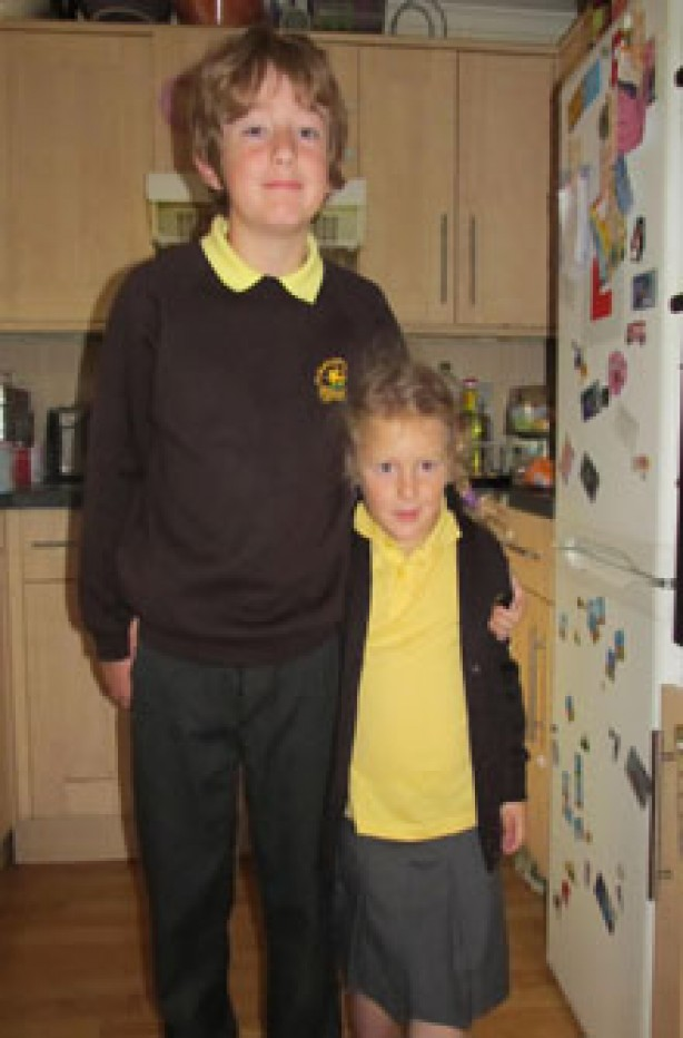 Isobella's first day at school