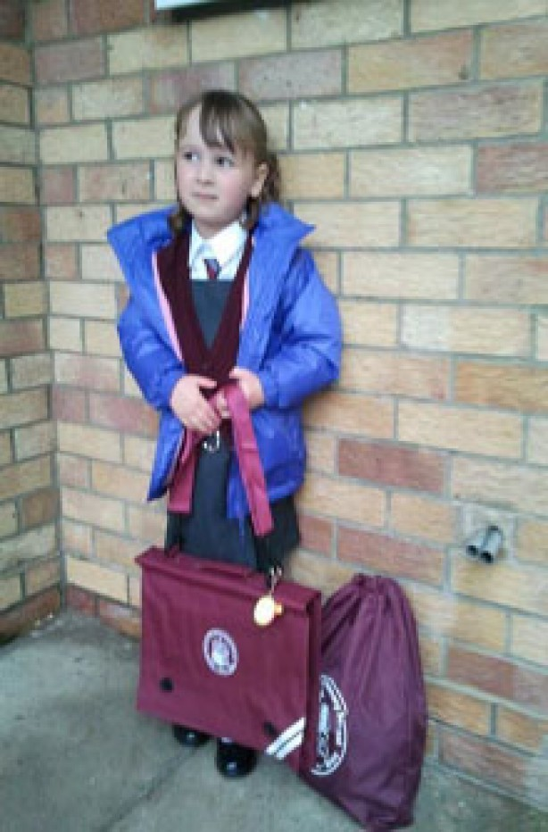 Phoebe's first day at school