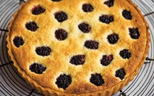 Tana Ramsay's almond and blackberry tart