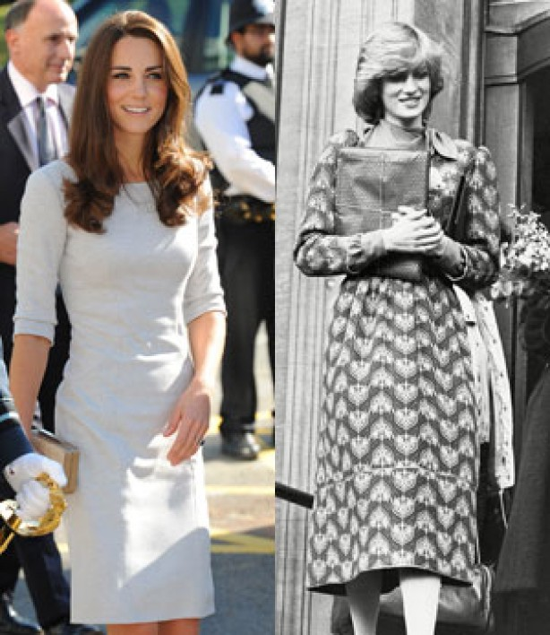 Kate Middleton and Diana