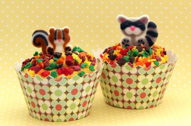 Victoria Threader's autumn squirrel cupcake