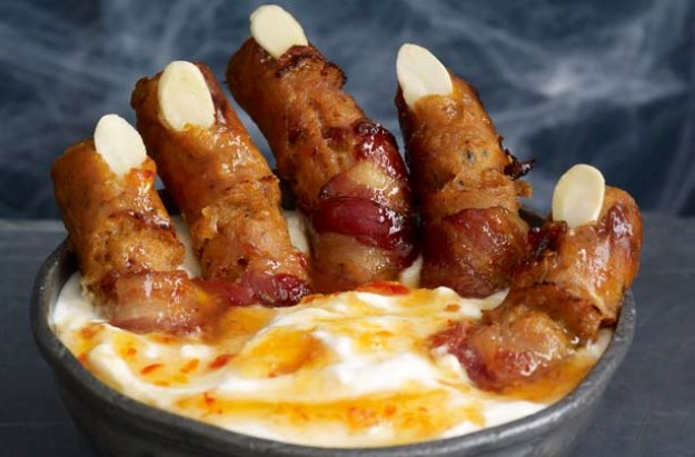 Witch fingers with chilli swamp dip recipe