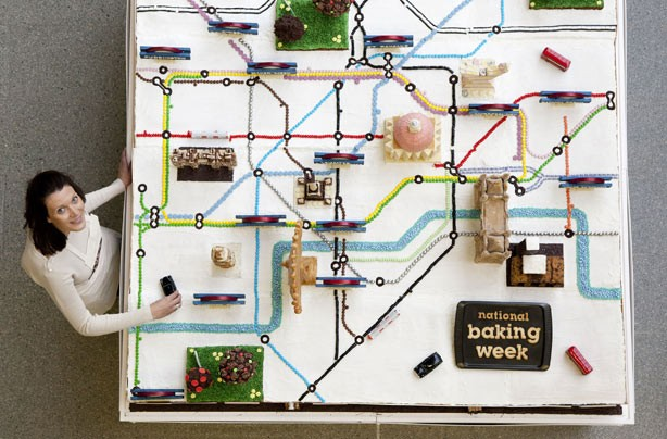 Tube map cake, Ruth Clements