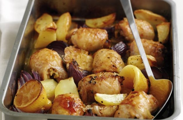 Lemon chicken tray bake recipe