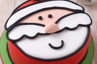 Jolly Santa cake