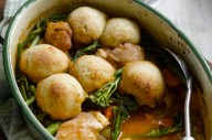 Jo Pratt's chicken casserole with herby cheddar dumplings